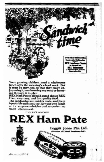 Rex Ham Pate sponsors of The Adelaide Show