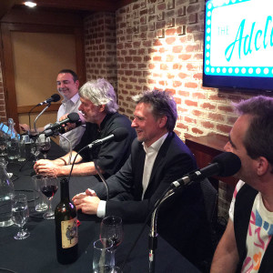 John Schumann, David Minear, Steve Davis and Nigel Dobson-Keeffe recording The Adelaide Show Podcast for the Adelaide Fringe