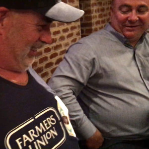 Trevor Pomery reveals his FUIC singlet on The Adelaide Show watched by Patrick Baker DV OK