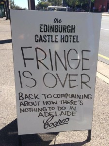Edinburgh Castle Hotel anti-Adelaide sign